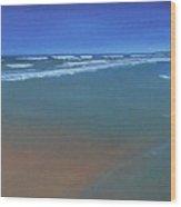 Wide Bay Wood Print