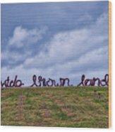 Wide Brown Land - Canberra - Australia Wood Print