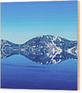 Wide Crater Lake Wood Print