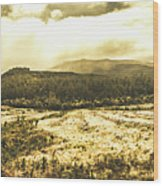 Wide Open Tasmania Countryside Wood Print