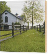 Widener Farms Horse Stable Wood Print