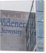 Widener University - Metropoliton Hall Wood Print