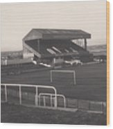 Wigan Athletic - Springfield Park - Main Stand 1 - Bw - 1969 Wood Print
