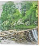Wigwam Falls Wood Print