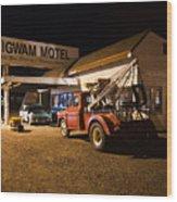 Wigwam Motel #3 Wood Print