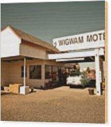 Wigwam Motel Wood Print