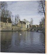 Wijngaardplein Bruges Wood Print