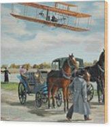 Wilbur Wright In France Wood Print