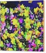 Wild Blossoms Wood Print