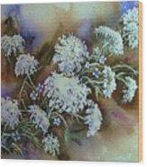Wild Carrot -queen Anne's Lace Vignette   Wood Print