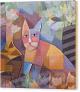 Wild Cat Blues Wood Print by Lutz Baar