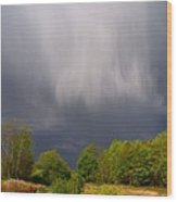 Wild Clouds Wood Print