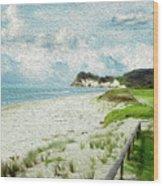 Wild Coastline Wood Print