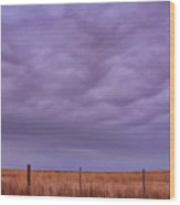 Wild Country Sky Wood Print