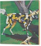 Wild Dogs Wood Print