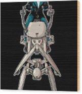 Wild Endor Aka Johnny Strabler On A Speeder Bike Wood Print