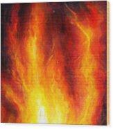Wild Fire 04 Wood Print