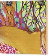 Wild Flowers Abstract Art - Sharon Cummings Wood Print