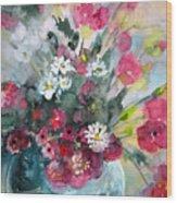 Wild Flowers Bouquet 01 Wood Print