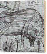 Wild Gaur Wood Print