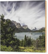 Wild Goose Island Glacier Park 4 Wood Print