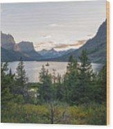 Wild Goose Island Sunset - Glacier National Park Montana Wood Print
