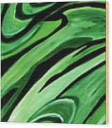 Wild Green Wood Print