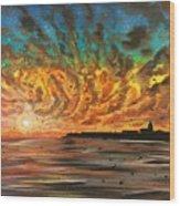 Wild Hearted Sun - Santa Cruz Wood Print