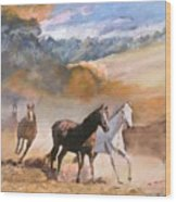 Wild Horses Wood Print