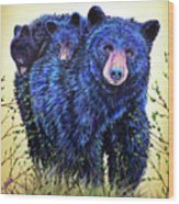 Wild Hucklebearies Wood Print