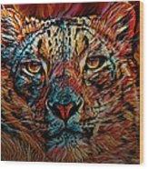 Wild Leopard Wood Print