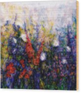 Wild Meadow Flowers Wood Print