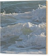 Wild Mediterranean Waves Wood Print