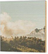 Wild Morning Peak Wood Print