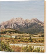 Wild Mountain Range Wood Print