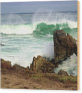 Wild Pacific Two Wood Print