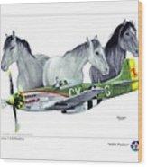 Wild Ponys Wood Print by Trenton Hill