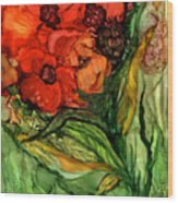 Wild Poppies - Organica Wood Print