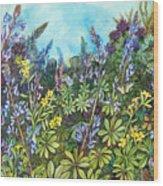 Wild Prairie Lupine Wood Print