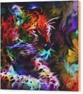Wild Puma Colors Wood Print