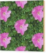 Wild Rose Pattern Wood Print