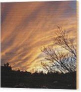 Wild Sky Of Autumn Wood Print
