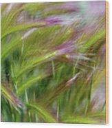 Wild Summer Grass Wood Print