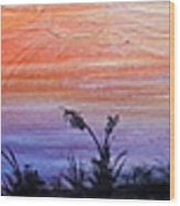 Wild Sunset Wood Print