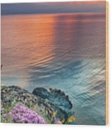Wild Thyme By The Sea Wood Print