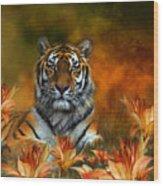 Wild Tigers Wood Print