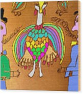 Wild Turkey Hands Dance Wood Print