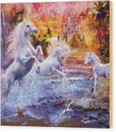 Wild Unicorns Wood Print