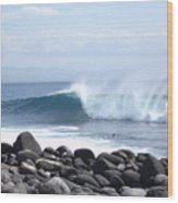 Wild Wave Wood Print