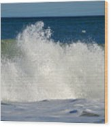 Wild Waves Wood Print